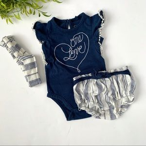 B1G1 FREE 💕 One Love Bodysuit and Bloomers